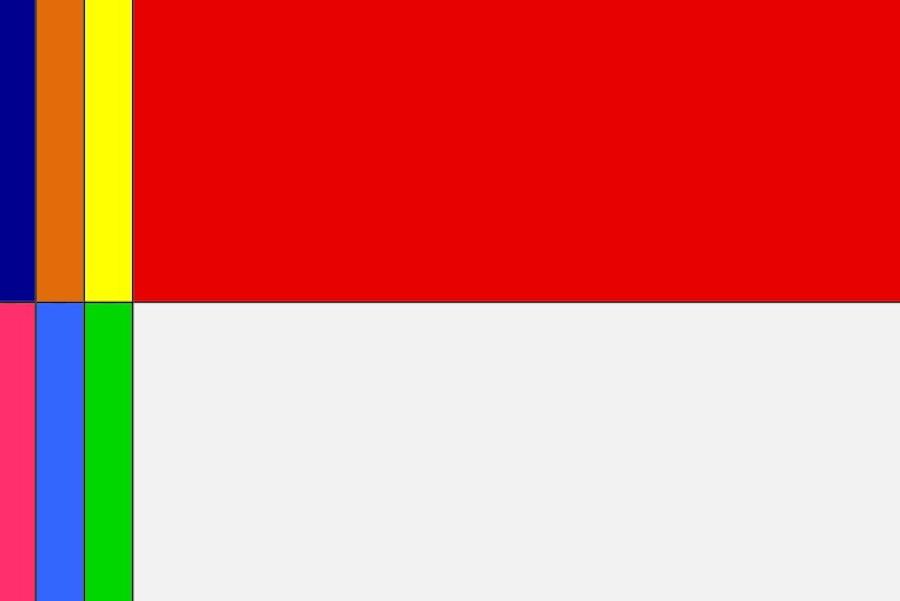 rok 2017 w formie flagi...